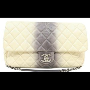Chanel Ombre TieDye SingleFlap Caviar Shoulder Bag